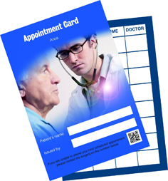 General Patient Appointment Cards