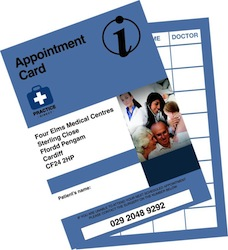 Individualised Patient Appointment Cards
